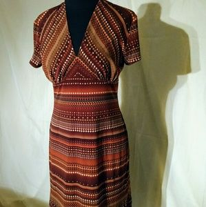 Sandra Darren  Print Dress Size 8